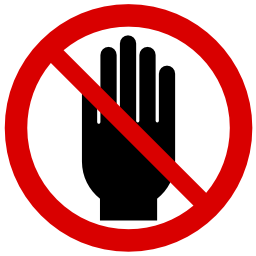 Do Not Put Hand Icon Png image #20464