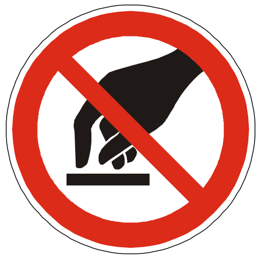 Do Not Touch Warning Icon Png image #20456