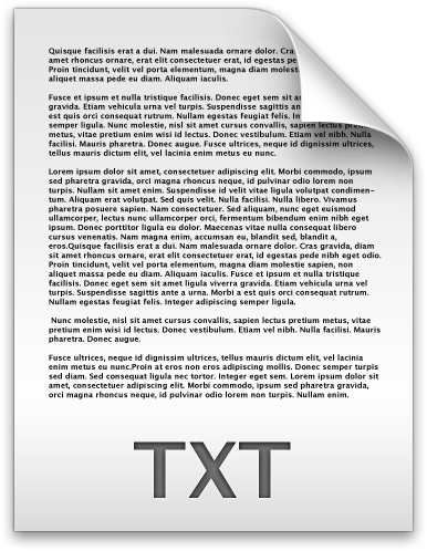 Document Text File Txt / Filecons Light / 96px / Icon Gallery