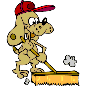 Dog Sweeping Png image #31519