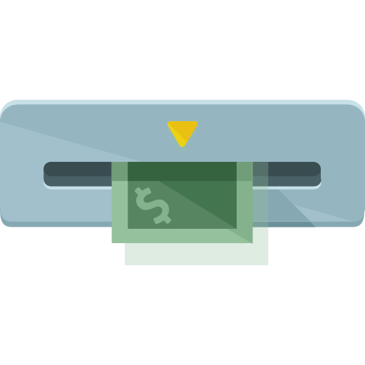 dollar, cash machine icon