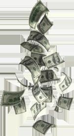 dollar cash money falling png
