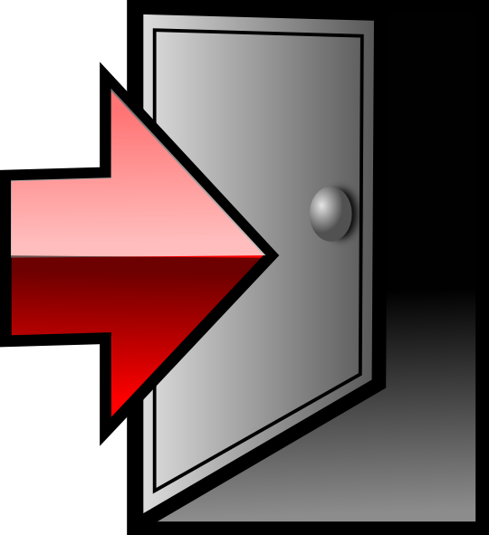 Door, Exit, Log Out, Logout, Sign Out Icon  image #34619