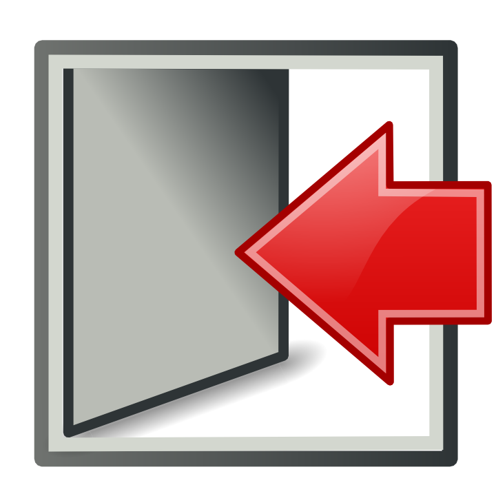 Door, exit, log out, logout, sign out icon #34612 - Free ...