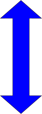 Double arrow symbol blue png