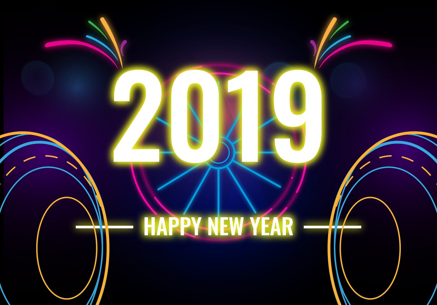 Download 2019 Celebration, Happy New Year Clipart image #47300