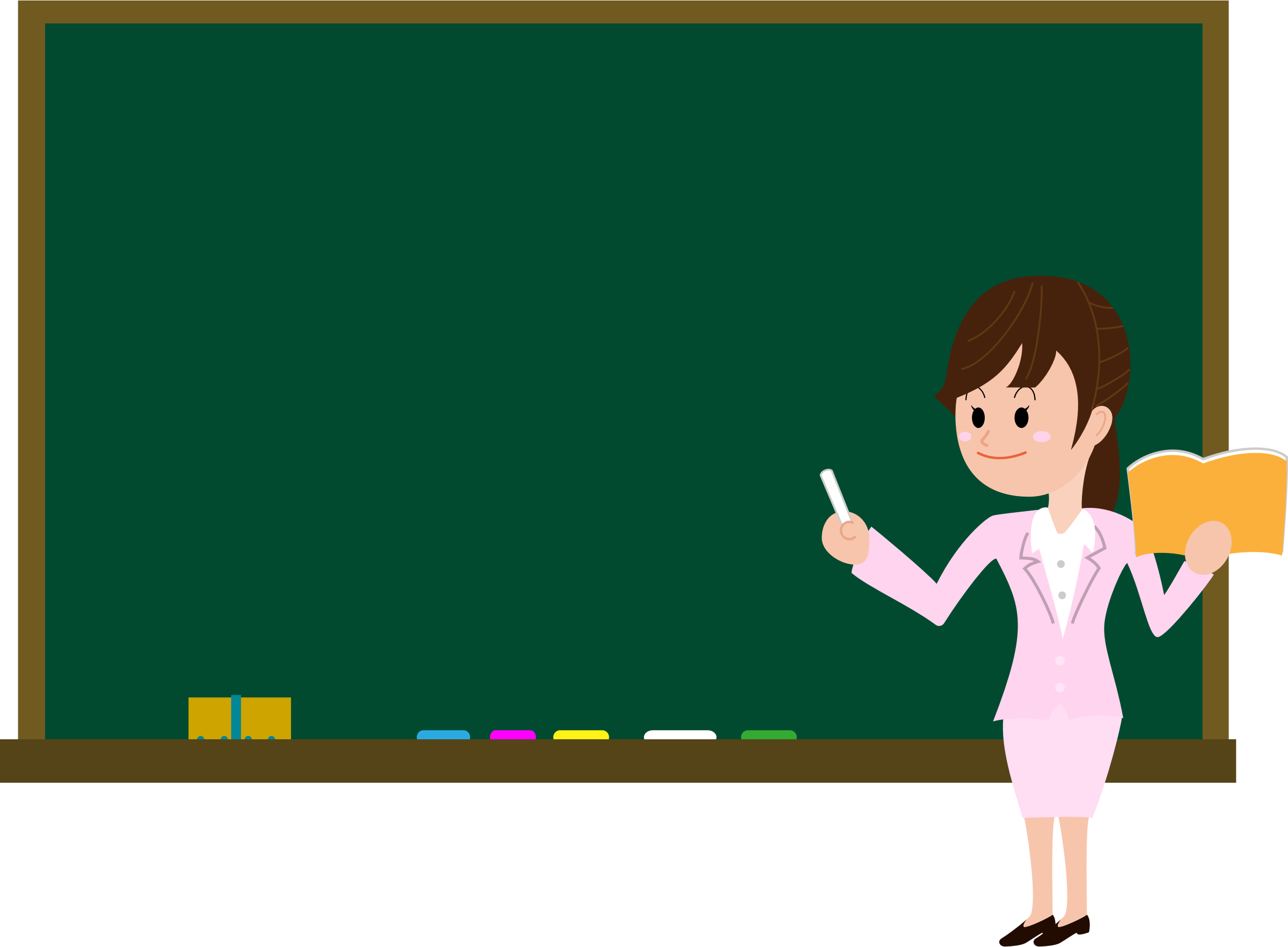 Download Female Teacher On Blackboard In Classroom image #46705