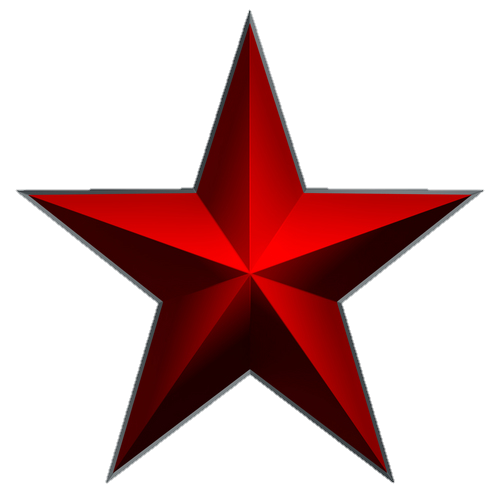 Download PNG image: red star PNG image