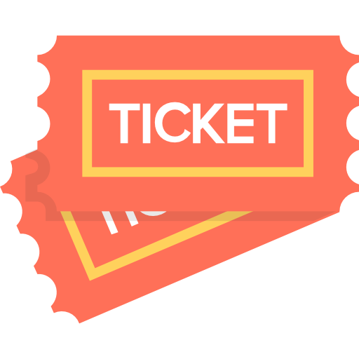 Download Ticket ticket free entertainment icon, orange ticket design