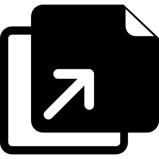 Duplicate Files With Up Arrow Icon image #40233
