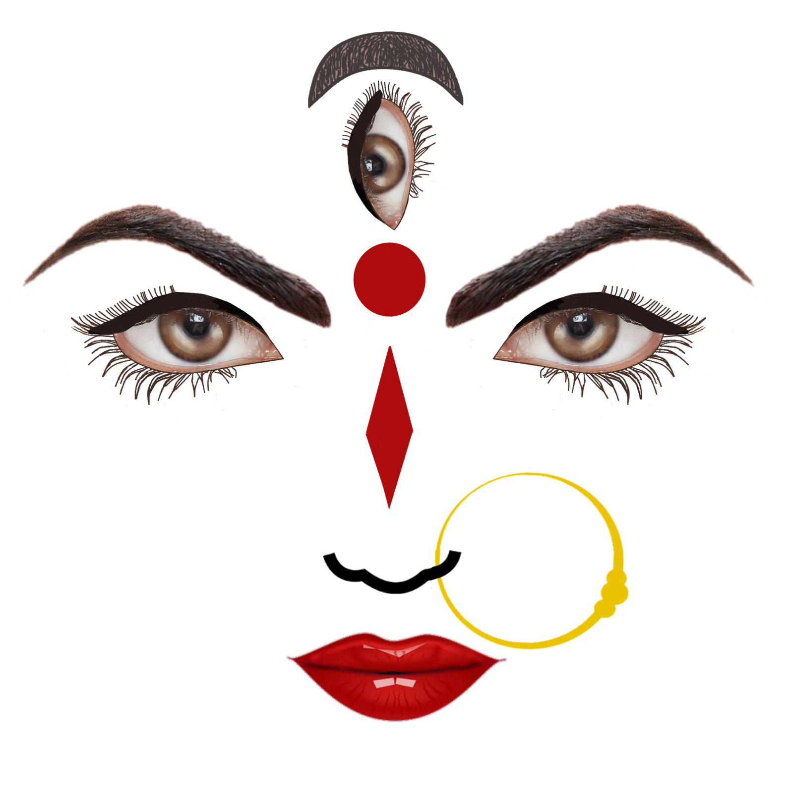 Durga Face Vector Png