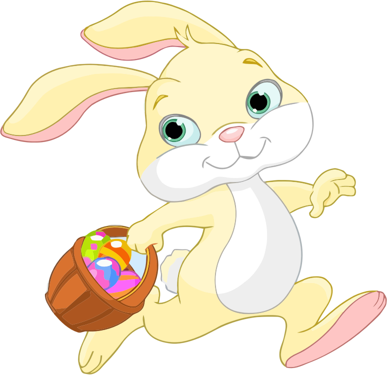 Easter Bunny Running PNG Clipart image #46575