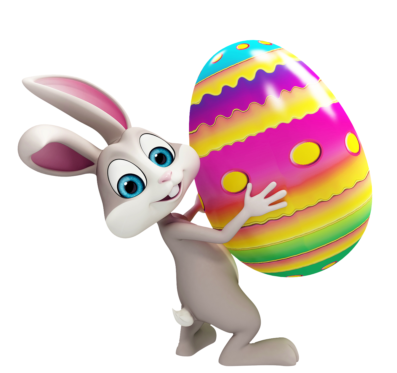 Easter On Bunny Hands Png image #46566