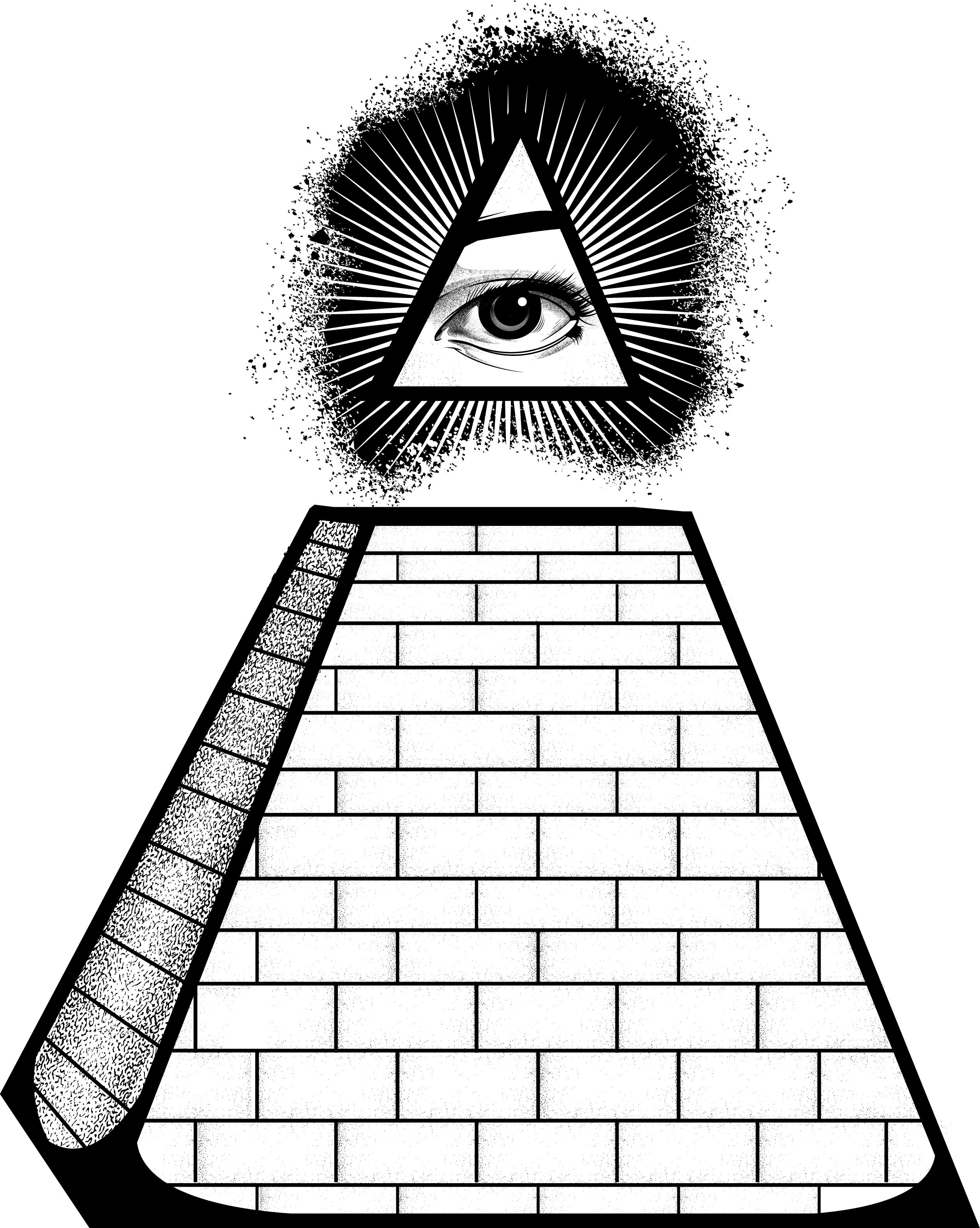 Egyptian Pyramid And Eye Illuminati Transparent Picture image #47711