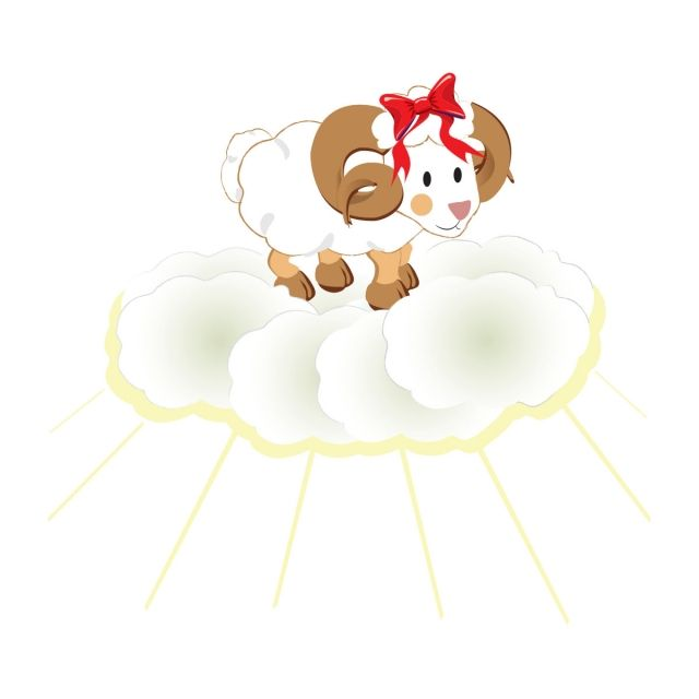 Eid Qurban Picture, Goat, Eid Al Adha, Clouds Vector Transparent
