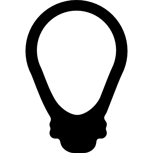 electric bulb off icon