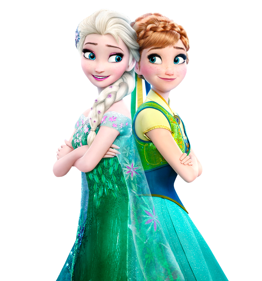 Elsa and Anna Frozen Fever png