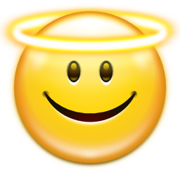 Emoticon Face Angel Icon Png Transparent Background Free Download 42 Freeiconspng