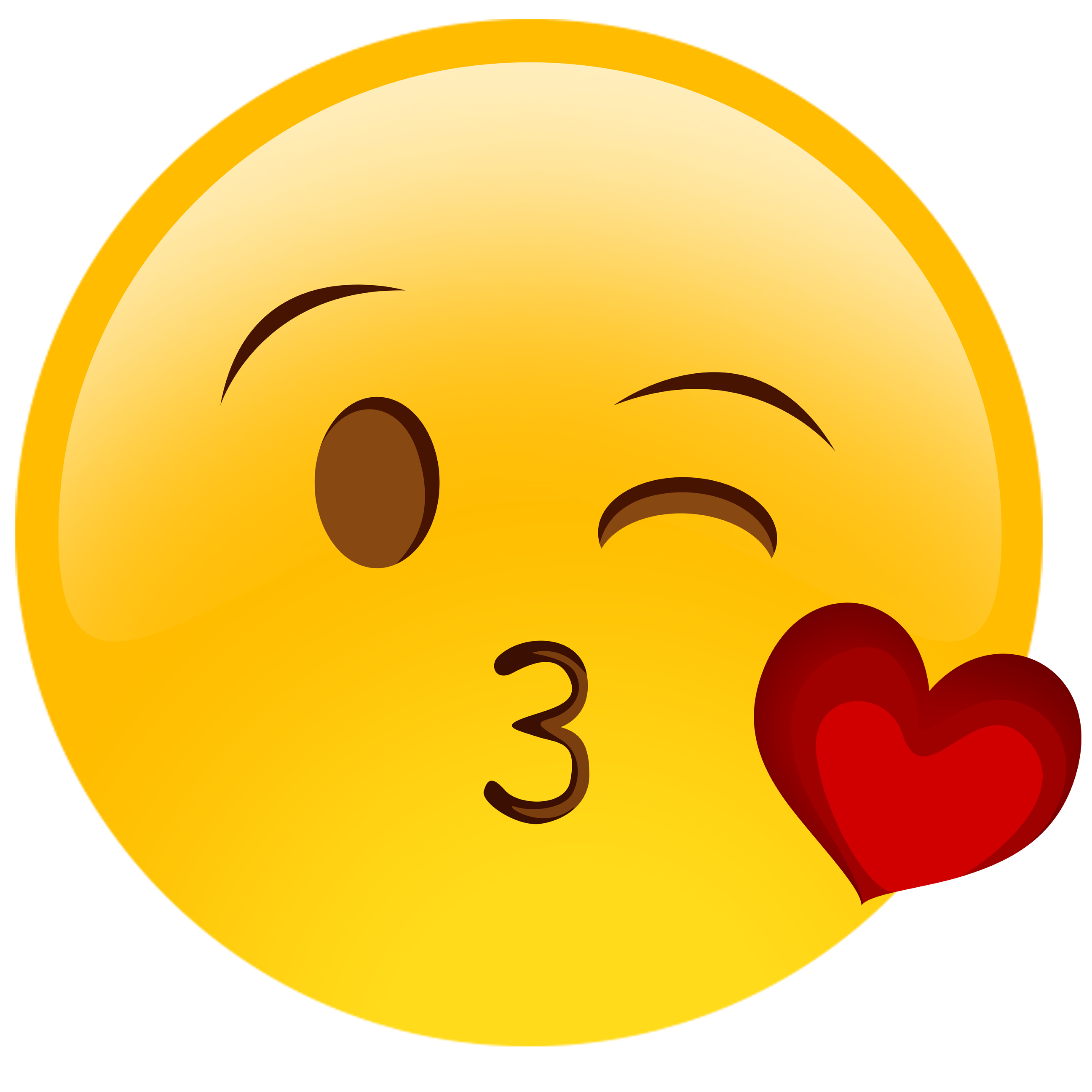 Emoticons Whatsapp Kiss, Hearts Png Images image #45549