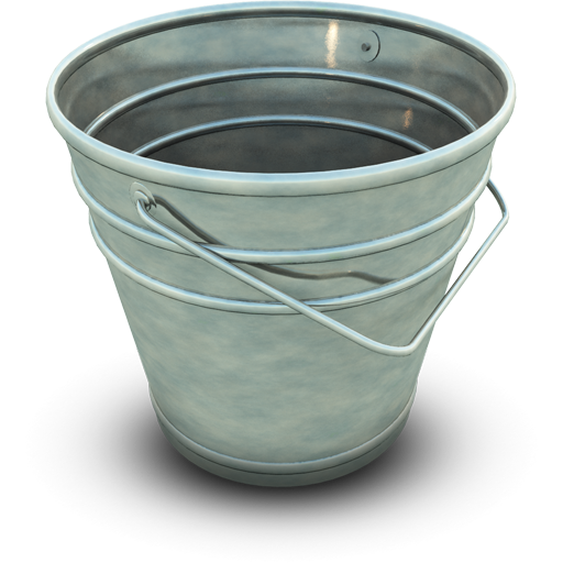 Empty bucket, blank, picture, graphics
