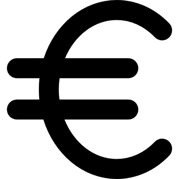Euro Symbol Icon Drawing