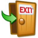 Exit, Log Off Icon image #8380