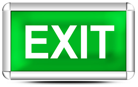 Exit Sign Button image #4623