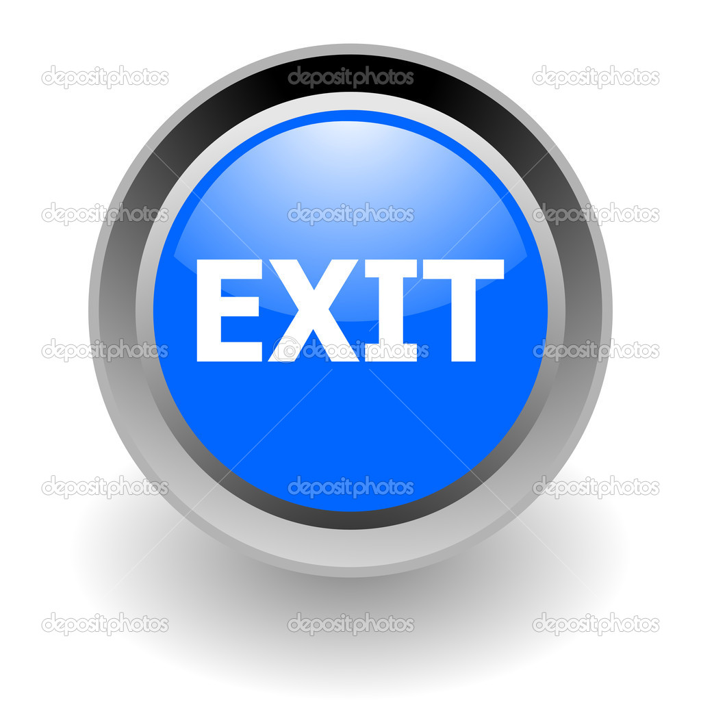 Exit Steel Glosssy Icon image #4612