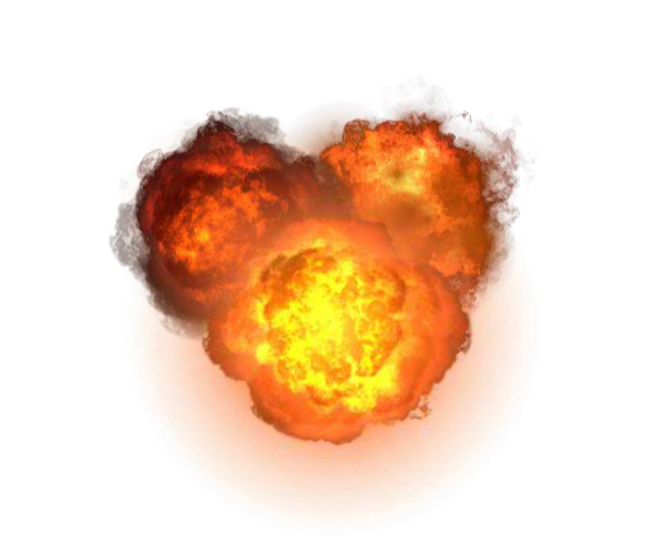 Explosion Transparent HD PNG image #45938