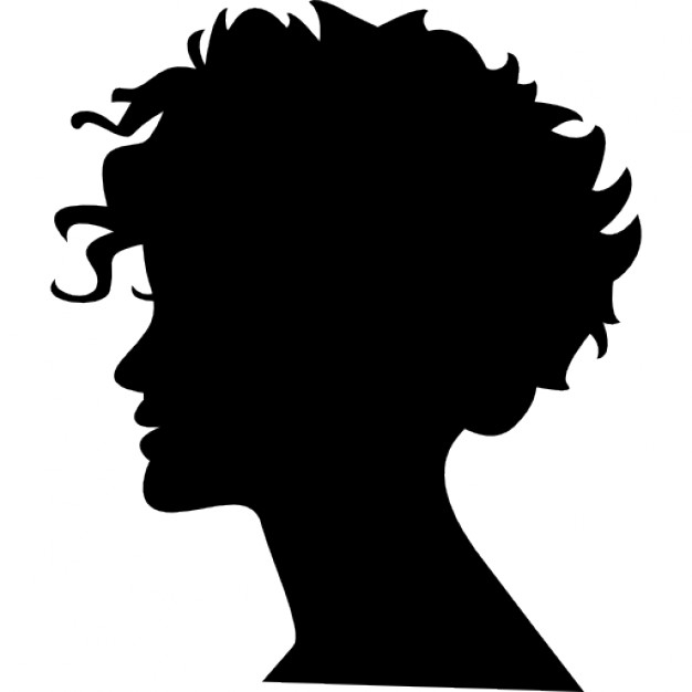 Icon Face Head Woman Vector image #22119