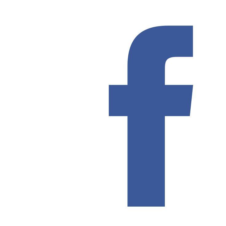 facebook f logo white background