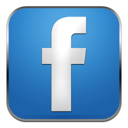 Blue HD Facebook Transparent Icon