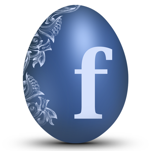 Blue facebook egg logo