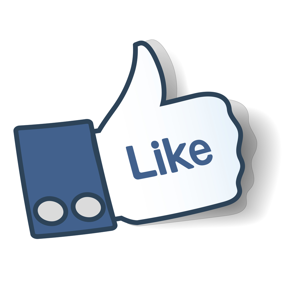 Facebook Like Thumbs Up Symbol image #31155