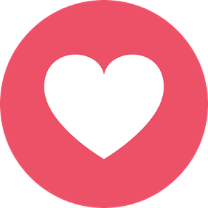 Facebook Love Logo Vector image #43997