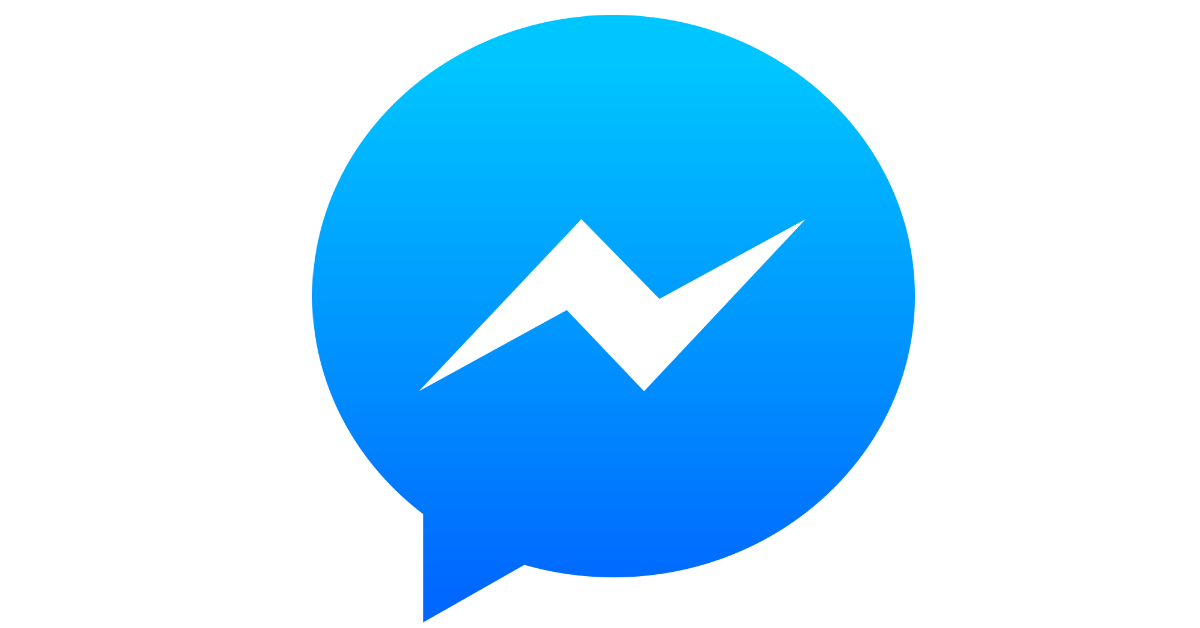 Facebook Messenger Light Blue Logo image #44097