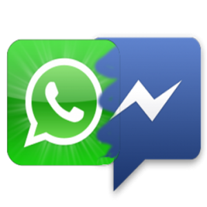 Facebook Messenger Vs WhatsApp Logo Png image #44103