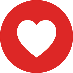 facebook red love heart png