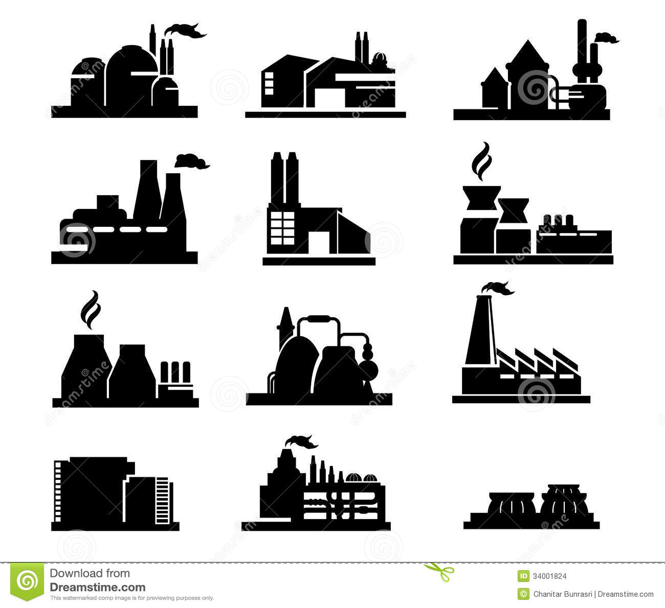 Factory Icon Stock Images  Image: 34001824