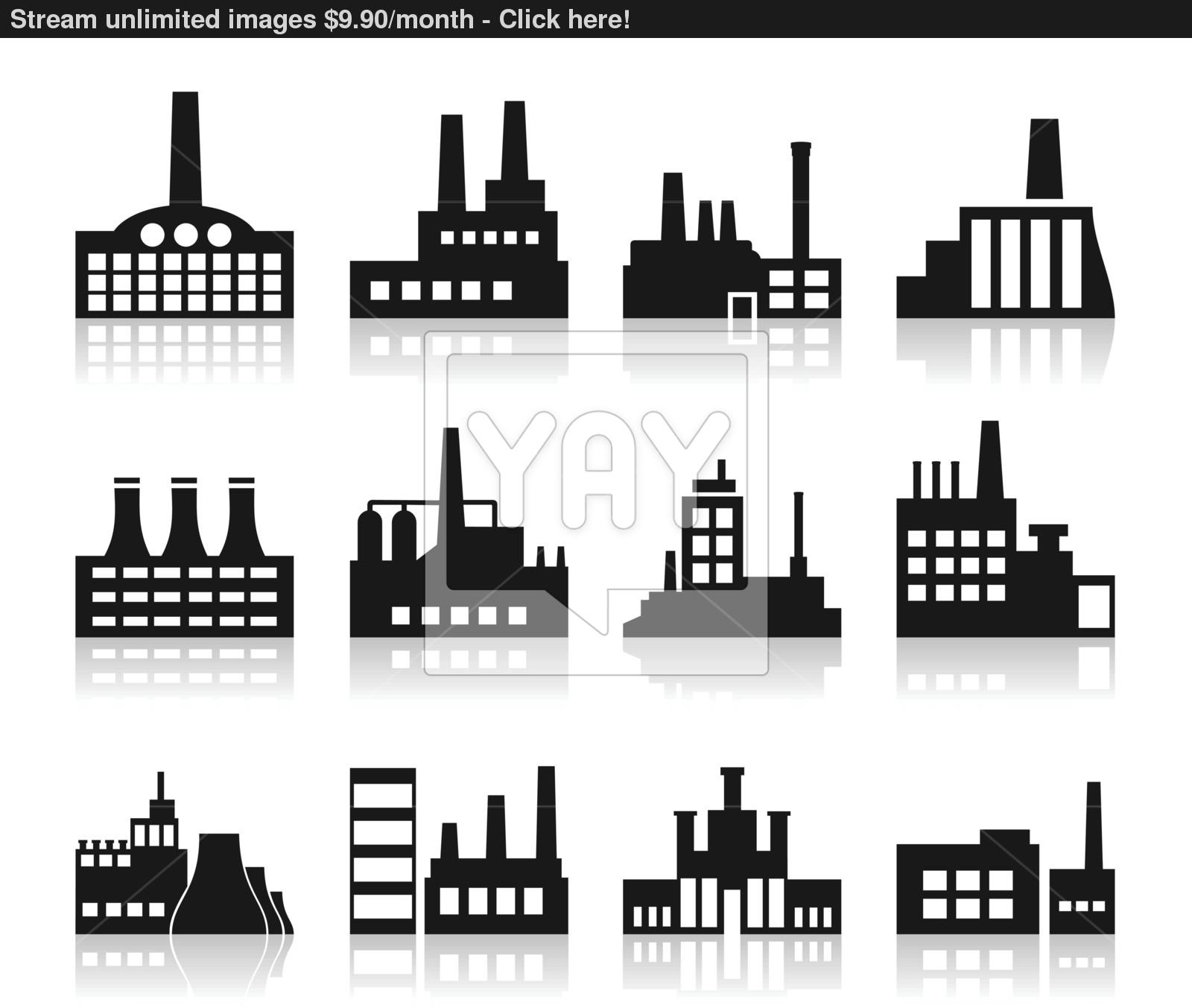 Factory Icon Vector | YayImagesm image #1248