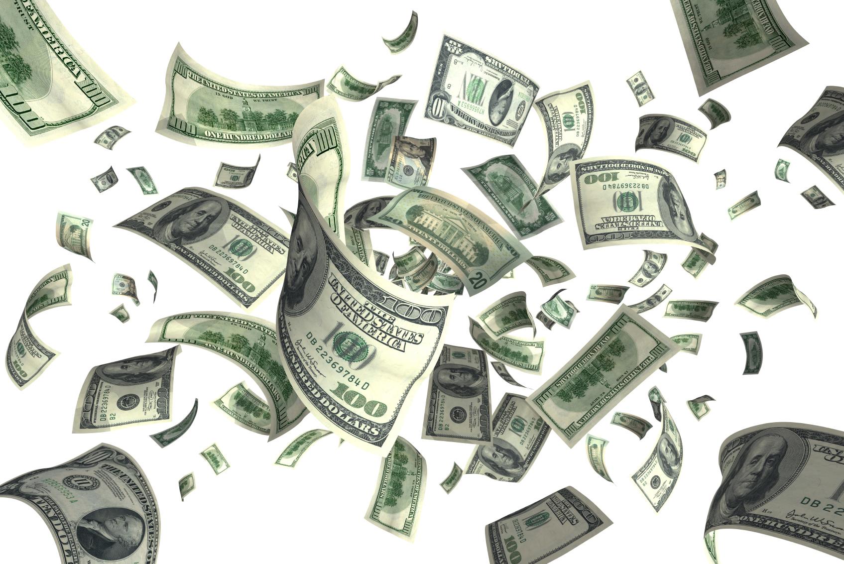falling us money royalty free stock photos image