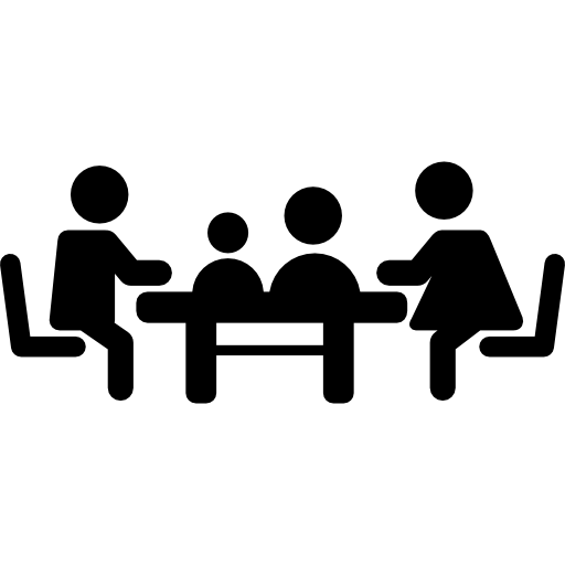 Familiar meeting on table  Free People icons