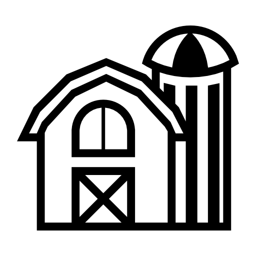 Farm building vector icon