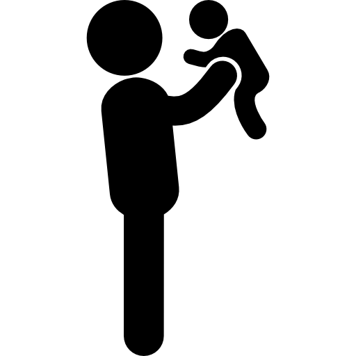 Father Lifting His Baby Png image #42617