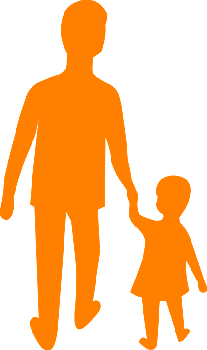 Father, Son, Daughter, Silhouette Png image #42643