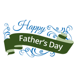 fathers day ribbon badge transparent png