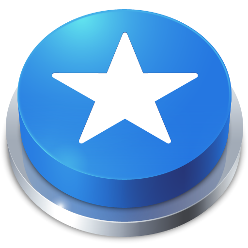 Favorites Star Blue Button Icon Png image #12310