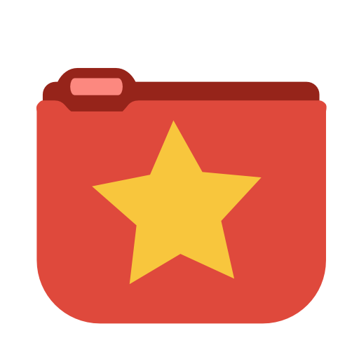 Favorites Star Folder Icon Png image #12297