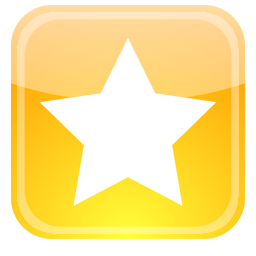 Favorites Star Square Icon Png image #12296