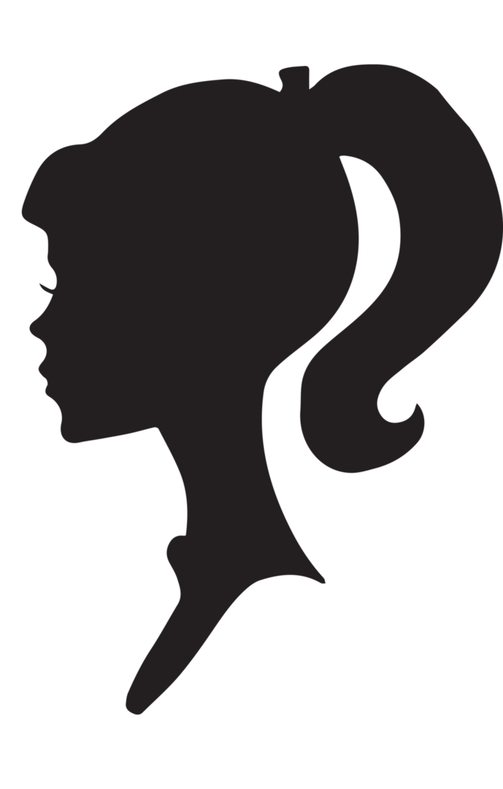 female silhouette head face icon  22121
